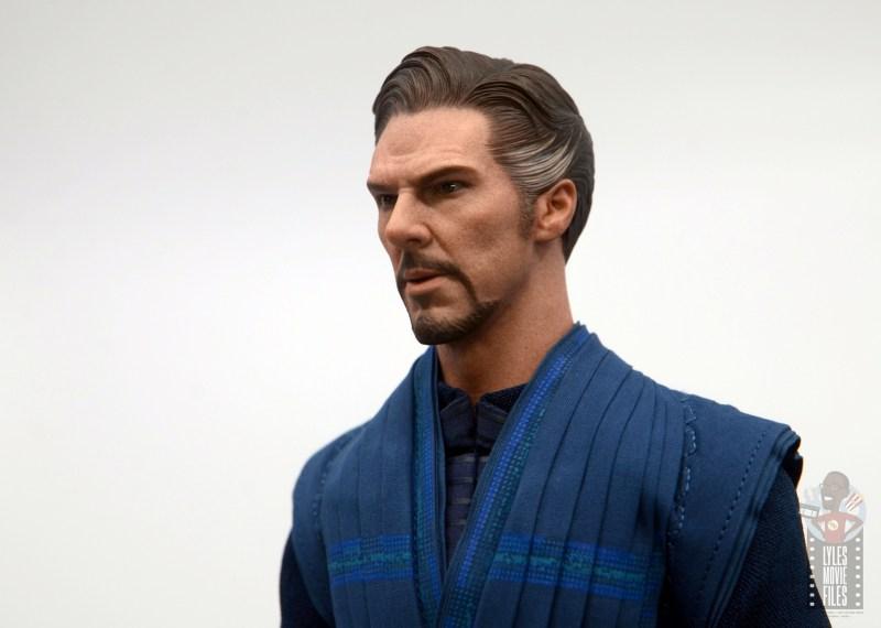 hot toys avengers infinity war doctor strange figure review -head paint detail