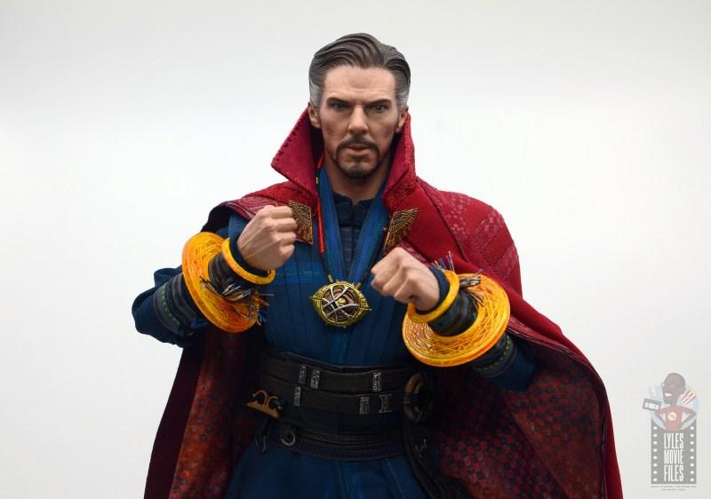 hot toys avengers infinity war doctor strange figure review -orange mandalas of light