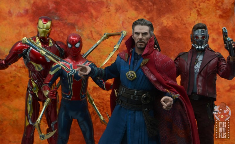 hot toys avengers infinity war doctor strange figure review - ready for battle with iron man, iron spider-man and star-lord