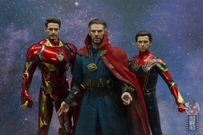 hot toys avengers infinity war doctor strange figure review - ready with iron man and iron spider