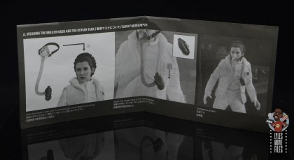 hot toys star wars hoth princess leia figure review - instructions 1