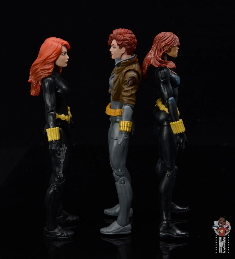 marvel legends black widow wal-mart exclusive figure review - facing retro and first hasbro black widow