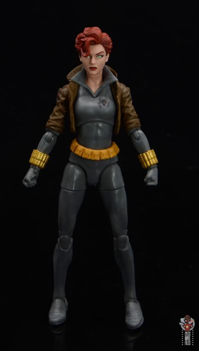 marvel legends black widow wal-mart exclusive figure review - front