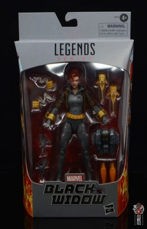 marvel legends black widow wal-mart exclusive figure review - package front