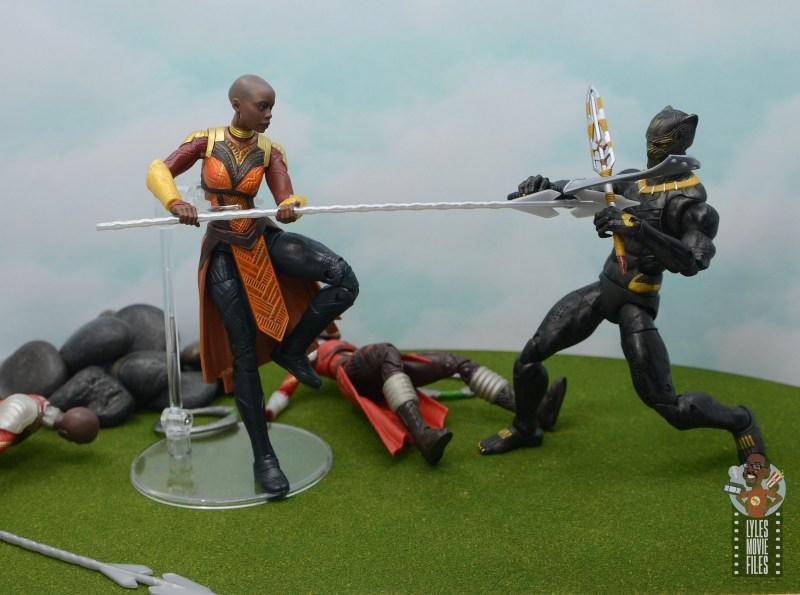 marvel legends build a figure okoye figure review -battling killmonger