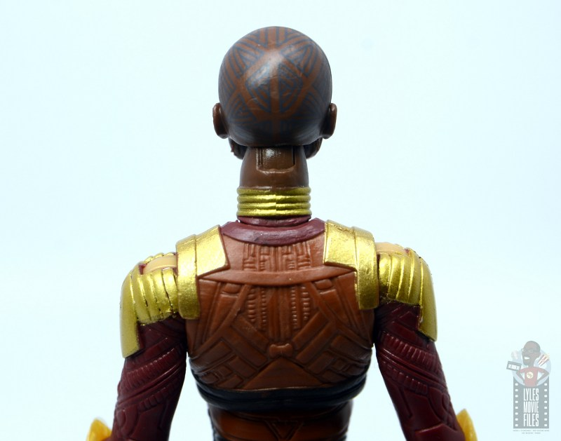 marvel legends build a figure okoye figure review -tattoo detail