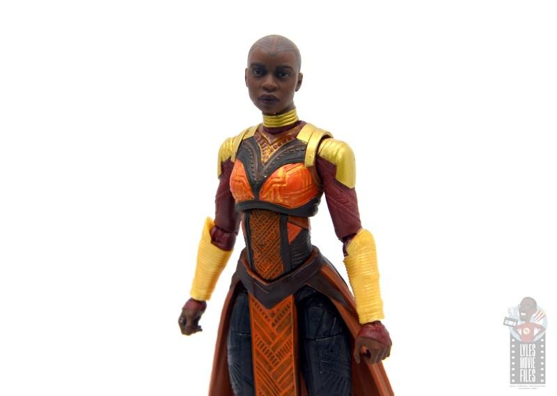 marvel legends build a figure okoye figure review -wide pic