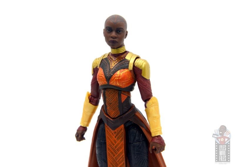 marvel legends build a figure okoye figure review -wide pic