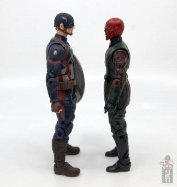 marvel legends marvel studios 10 years red skull figure review - facing mcu captain america