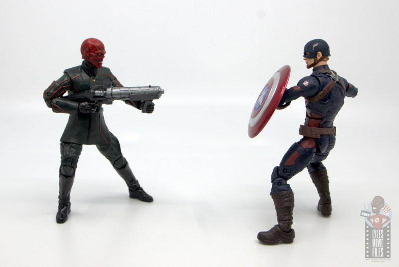 marvel legends marvel studios 10 years red skull figure review - facing off with captain america