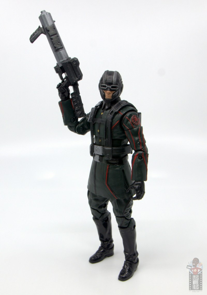 marvel legends marvel studios 10 years red skull figure review - flame thrower hydra soldier with blaster