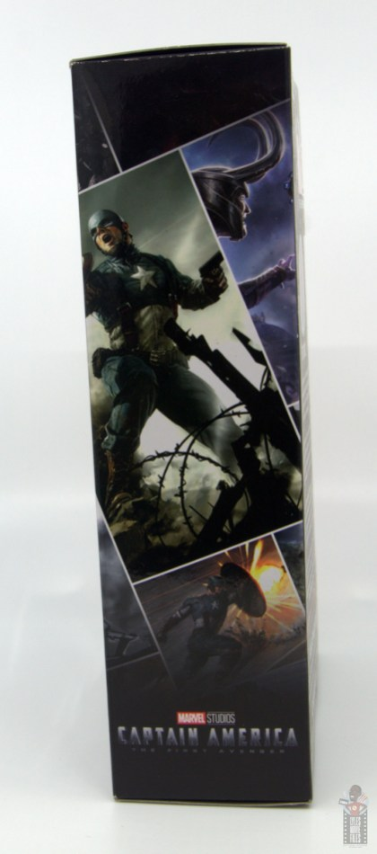marvel legends marvel studios 10 years red skull figure review - package right side