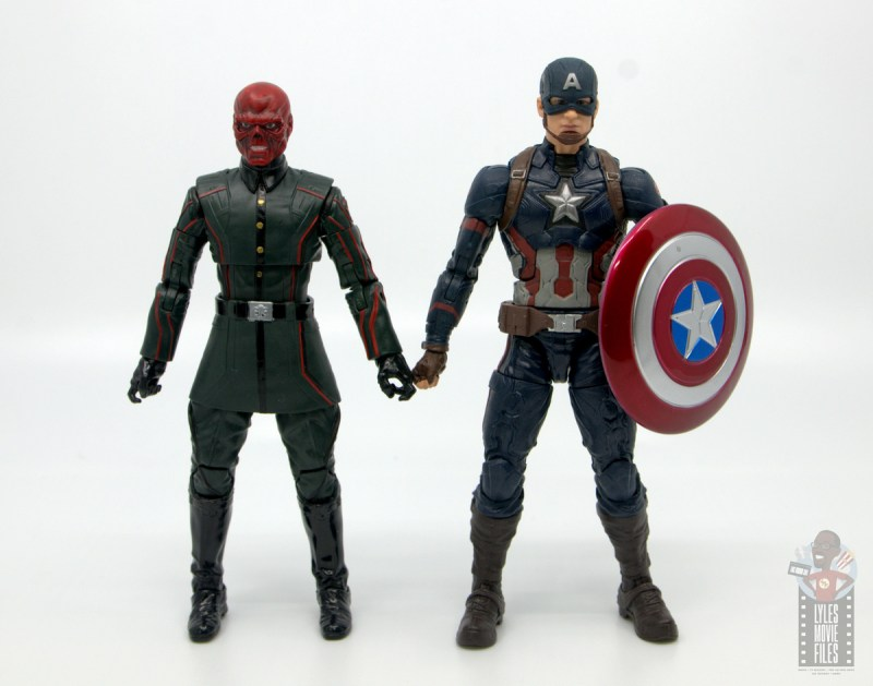 marvel legends marvel studios 10 years red skull figure review - scale with mcu captain america