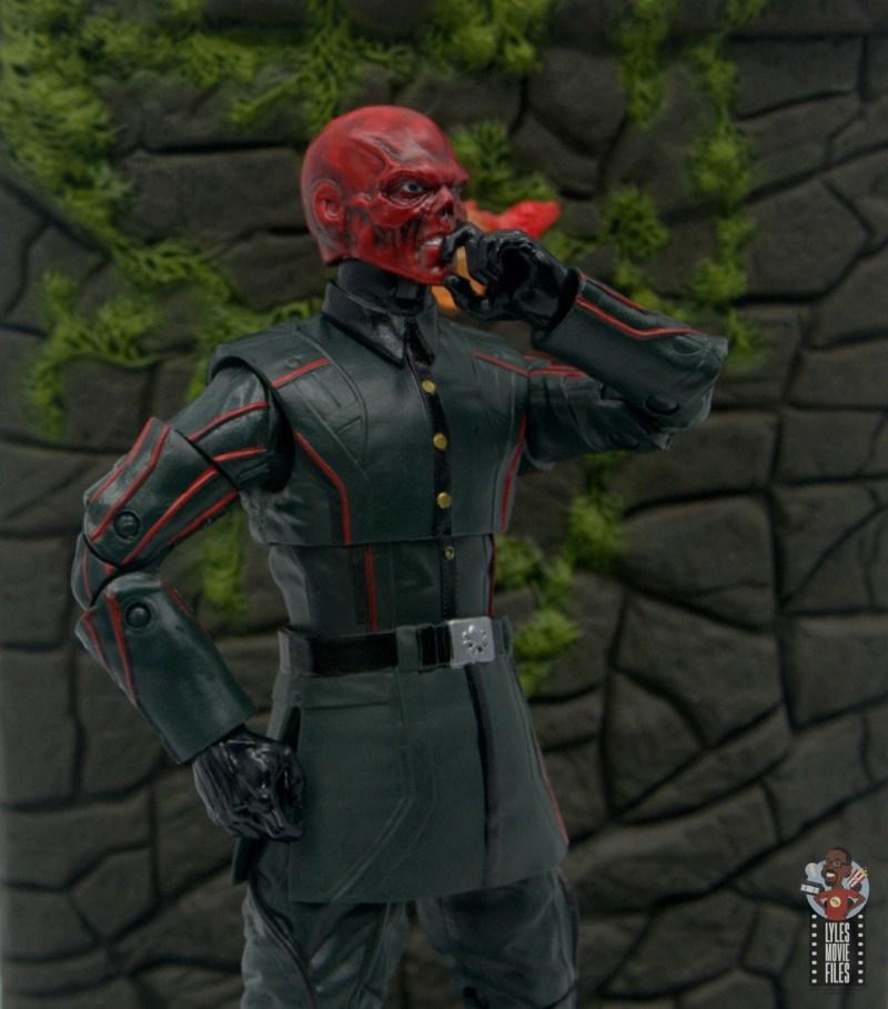 marvel legends marvel studios 10 years red skull figure review - side shot