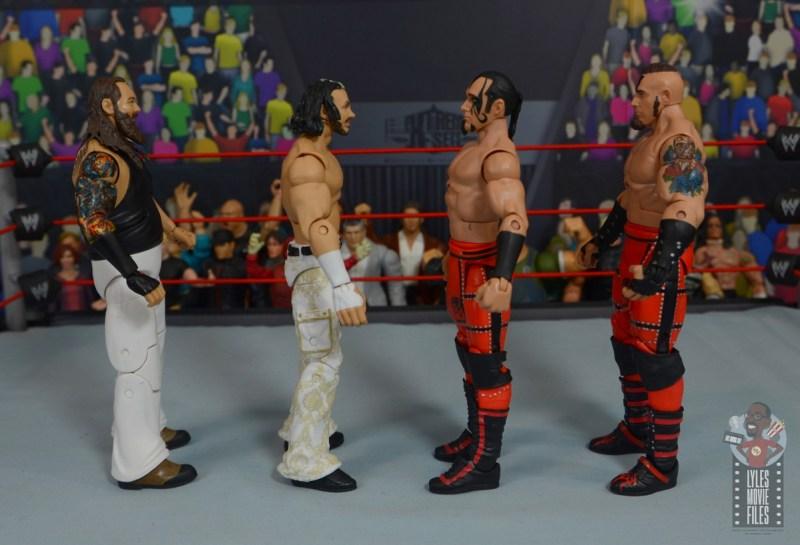 wwe elite wrestlemania woken matt hardy figure review - facing bray wyatt, konnor and viktor