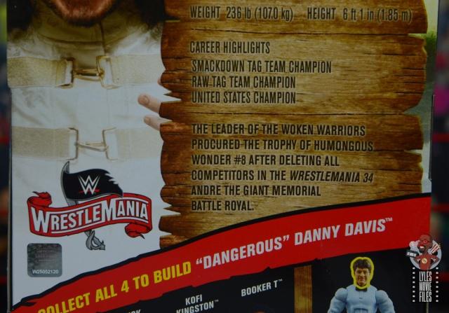 wwe elite wrestlemania woken matt hardy figure review - package bio