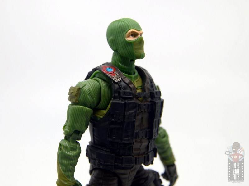GI Joe Classified Series Beach Head figure review - right side close up
