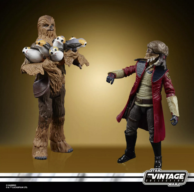 Star Wars The Vintage Collection Galaxy's Edge Millennium Falcon Smuggler's Run Target - chewbacca and hondo