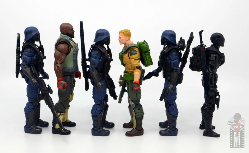 gi joe classified cobra trooper figure review - facing roadblock, duke and snake eyes