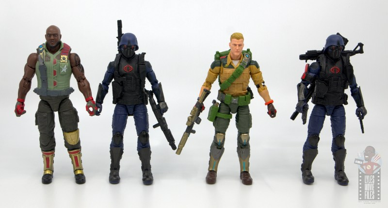 gi joe classified cobra trooper figure review - scale with roadblock and duke