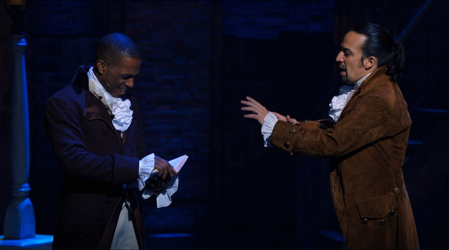 hamilton review - leslie odom jr. and lin-manuel miranda