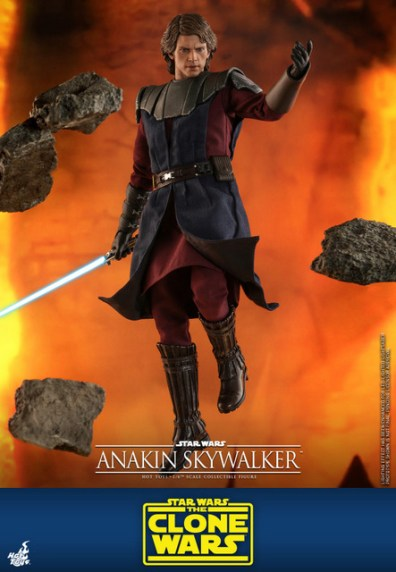 hot toys anakin skywalker clone wars figure - levitating