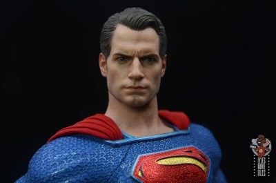 hot toys justice league superman figure review - head sculpt paint detail