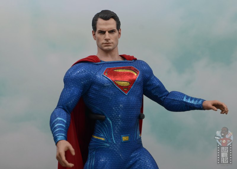 hot toys justice league superman figure review - in the air