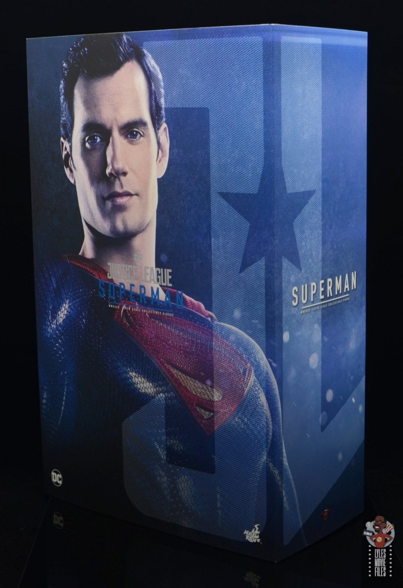 hot toys justice league superman figure review - package front and side