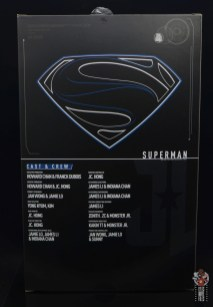 hot toys justice league superman figure review - package insert rear