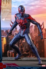 hot toys spider-man 2099 figure - battle ready