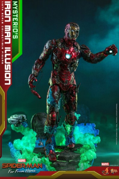 hot toys spider-man far from home mysterio's iron man illusion figure - base effects