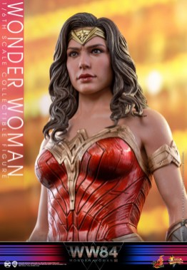 hot toys wonder woman 1984 figure - looking up