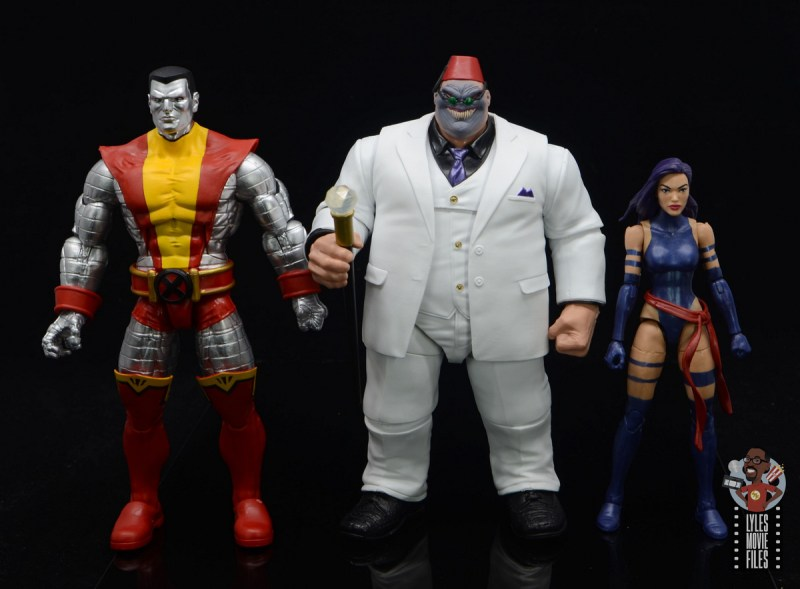 marvel legends build-a-figure shadow king figure review -scale with colossus and psylocke