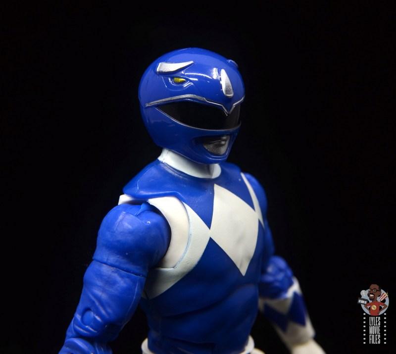 power rangers lightning collection blue ranger figure review -helmet close up