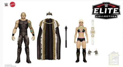 sdcc 2020 wwe - king corbin and alexa bliss