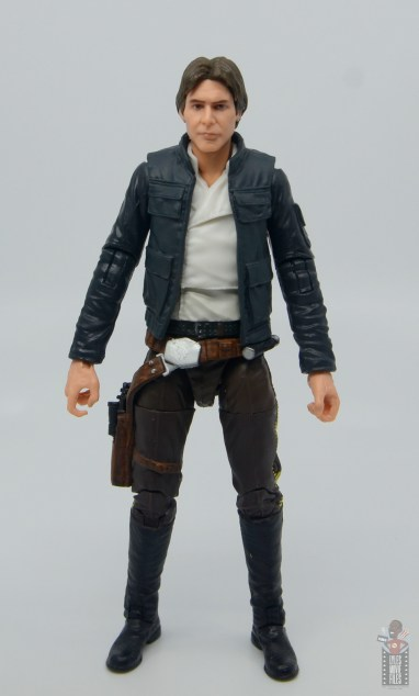 star wars the black series han solo figure review - front