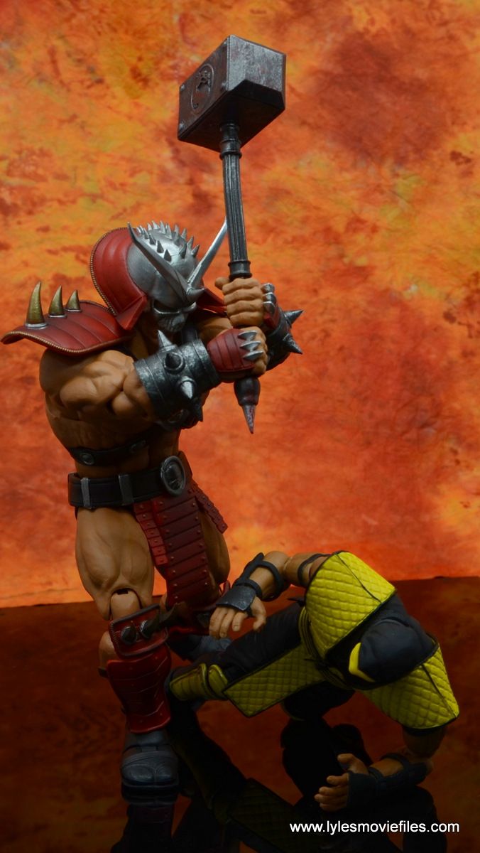 storm collectibles mortal kombat shao khan figure review -bringing the hammer down