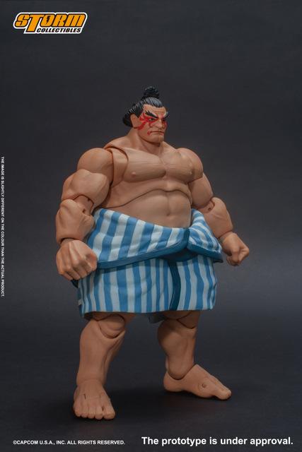 storm collectibles street fighter v - e. honda nostalgia costume figure - right side