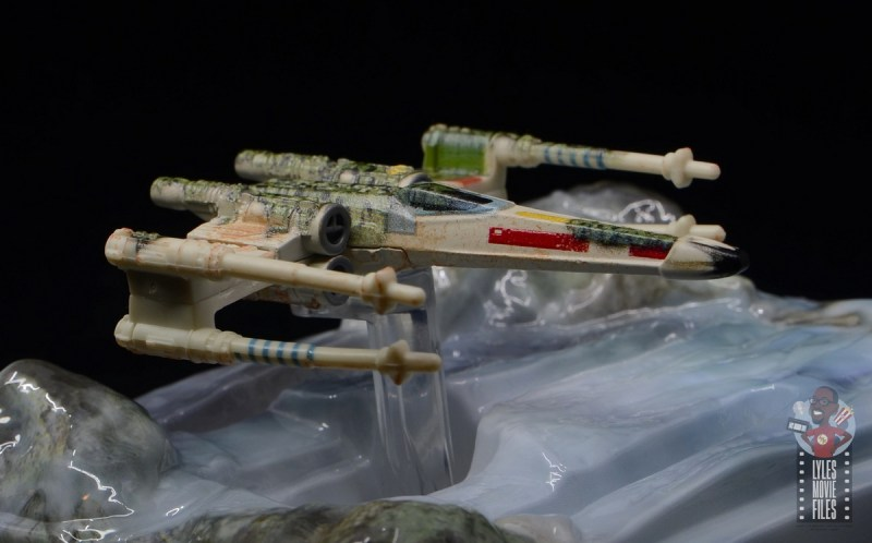 Hot Wheels The Empire Strikes Back X-Wing Dagobah swamp review - detail right side