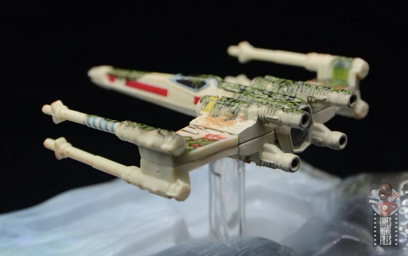 Hot Wheels The Empire Strikes Back X-Wing Dagobah swamp review - weed detail