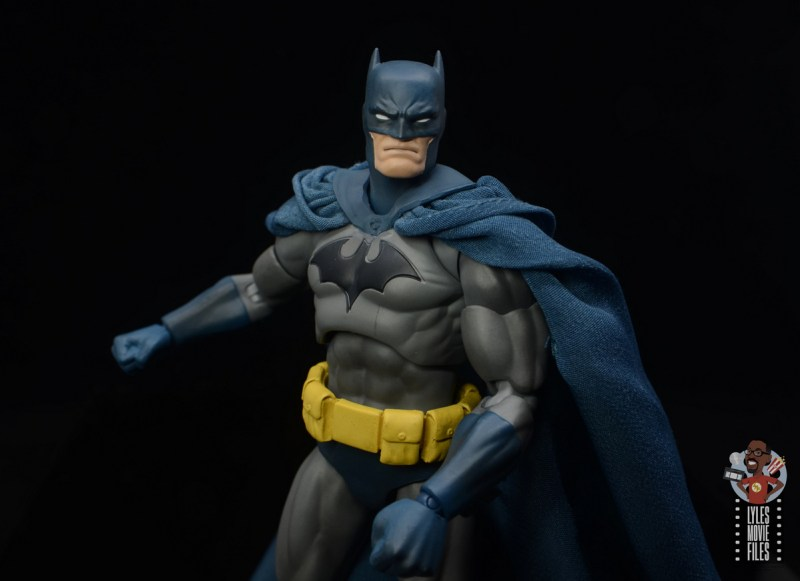 mafex hush batman figure review - close up