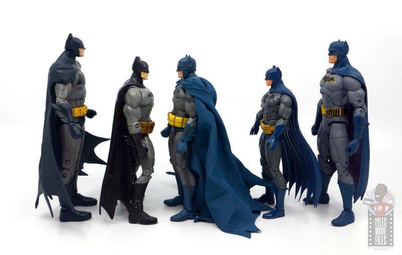 mafex hush batman figure review -facing various batmen