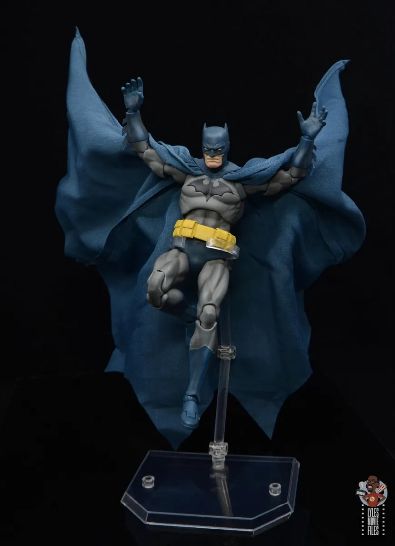 mafex hush batman figure review -gliding down