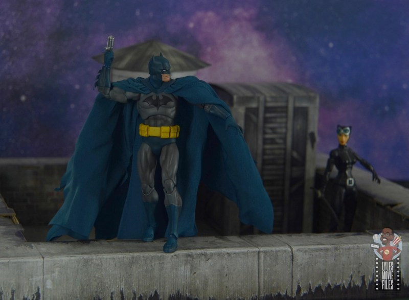 mafex hush batman figure review -leaving catwoman