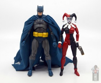 mafex hush batman figure review -with dc icons harley quinn