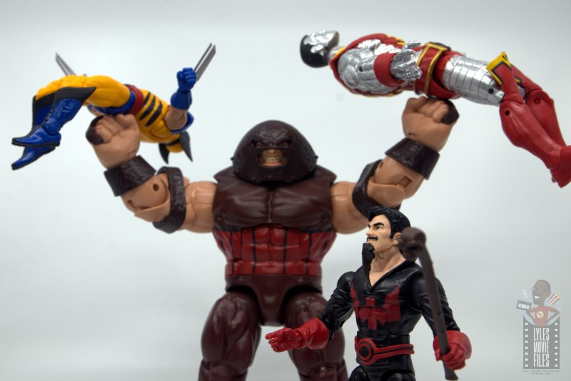 marvel legends black tom cassidy figure review - defeated x-men with juggernaut