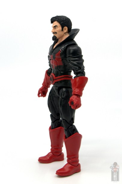marvel legends black tom cassidy figure review - left side