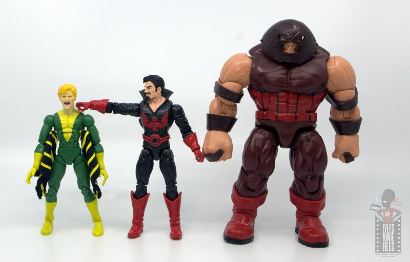 marvel legends black tom cassidy figure review -with banshee and juggernaut