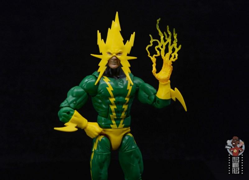 marvel legends electro figure review -lightning hand
